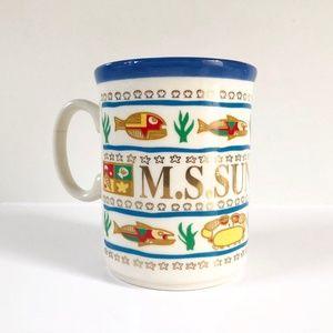 Other - 90s M.S. Sundream cruise ship souvenir mug